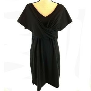 eShakti Sheath Dress XL Sz 16 Black